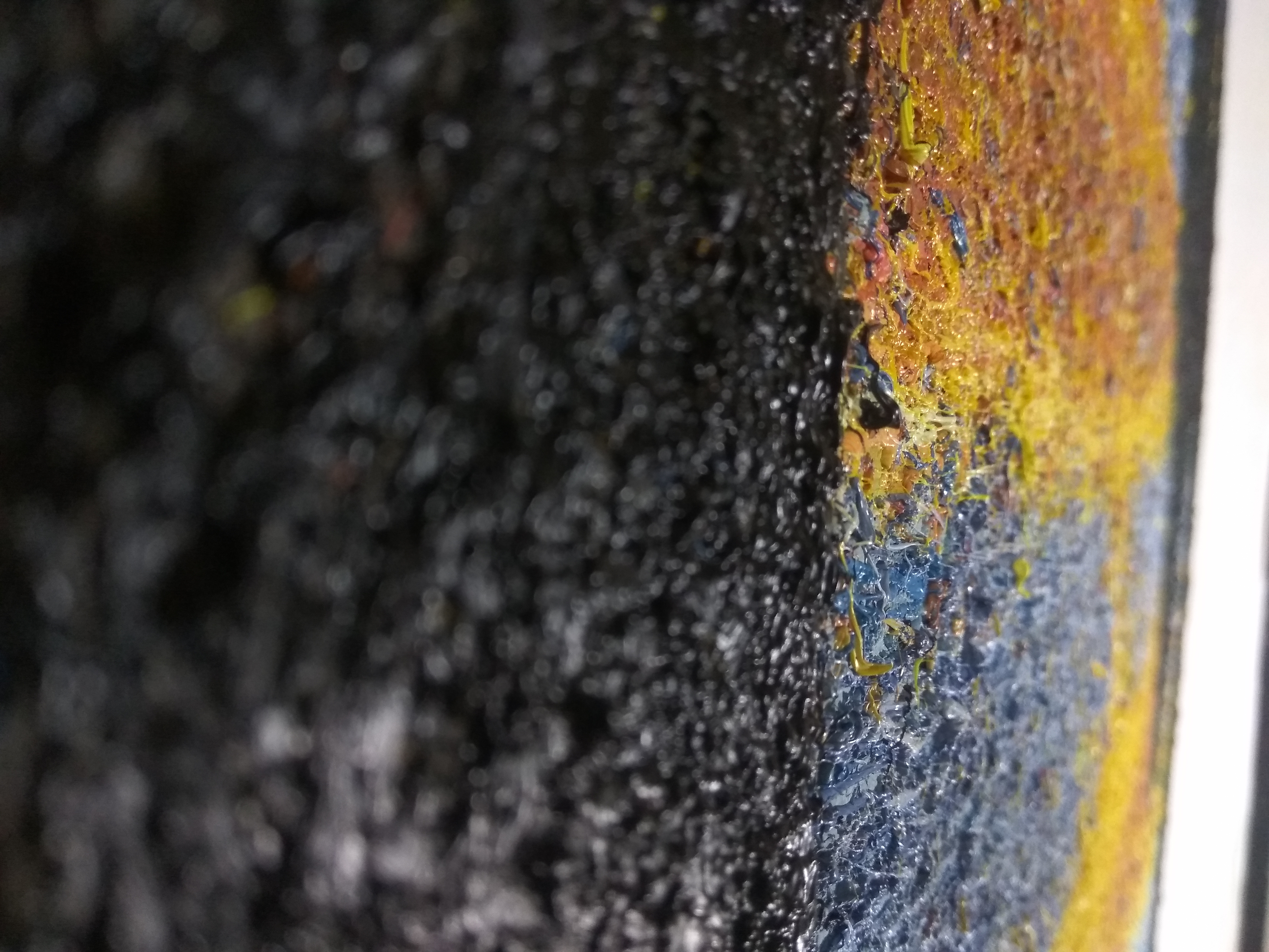 #mrlnsk oil painting closeup Texture and Colors